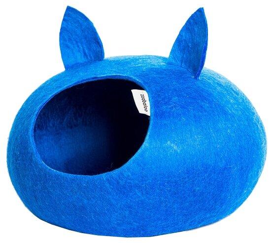 Домик для кошек, для собак Zoobaloo WoolPetHouse L с ушками 40х40х20 см
