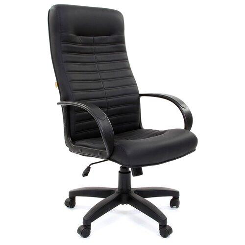 Фото - Компьютерное кресло Chairman 480 LT для руководителя, обивка: искусственная кожа, цвет: черный компьютерное кресло chairman 668 lt для руководителя обивка искусственная кожа цвет черный бежевый