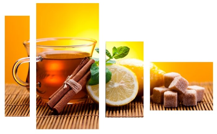 Модульная картина KARTINA style Чай с лимоном и корицей