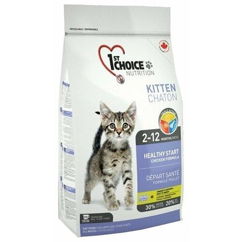 Сухой корм для котят 1st Choice Kitten Здоровый старт, для, с курицей 10 кг