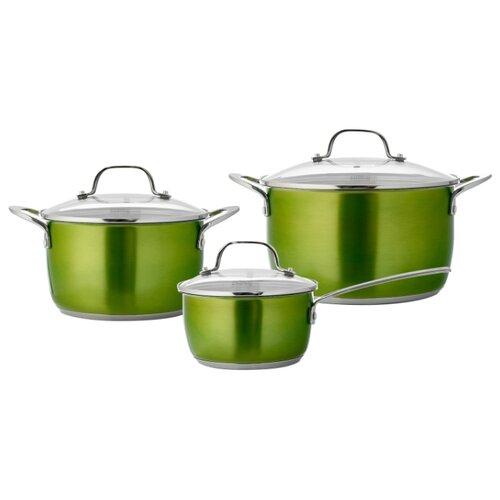 Набор посуды Esprado Emerald 6 пр. зелeныйНаборы посуды для готовки<br>