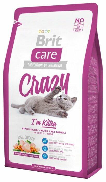 Корм для котят Brit Care Crazy с курицей 2 кг — купить по выгодной цене на Яндекс.Маркете