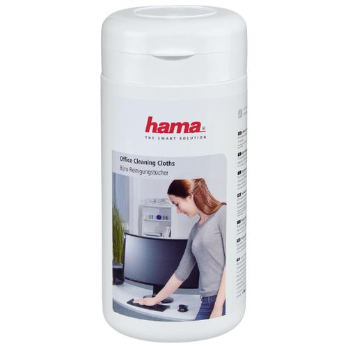 Фото - HAMA Office Cleaning Cloths влажные салфетки 100 шт. для оргтехники cactus cs t1001e влажные салфетки 100 шт
