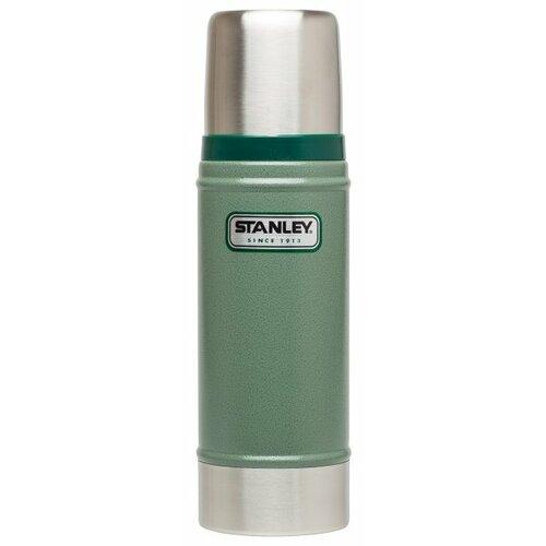 Классический термос STANLEY Classic Vacuum Insulated Bottle (0,47 л) зеленый термос stanley classic vacuum bottle 0 75л синий поливные капельницы в подарок