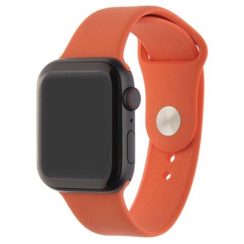 INTERSTEP Ремешок SPORT для Apple Watch 42/44 мм, силикон оранжевый