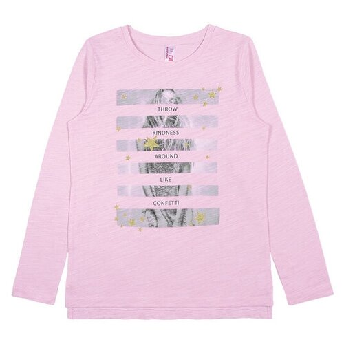 Лонгслив cherubino размер (158)-80, розовый перламутрФутболки и майки<br>