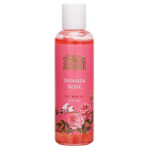 Indibird гель для умывания лица Дамасская роза без сульфатов, 100 млОчищение и снятие макияжа<br>