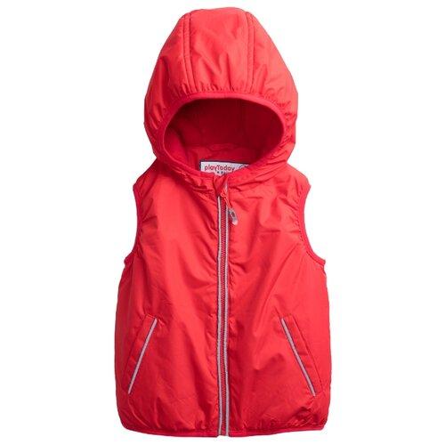 Жилет playToday размер 80, ярко-красныйКуртки и пуховики<br>
