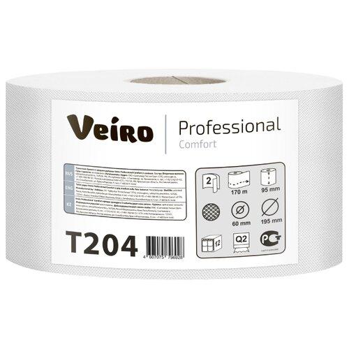 Купить Туалетная бумага Veiro Professional Comfort T204 белая двухслойная, 1 рул.