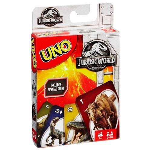 Купить Настольная игра Mattel Uno Парк Юрского периода FLK66, Настольные игры