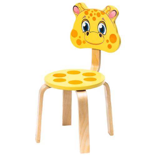 Купить Стул Polli Tolli Мордочки Жирафик желтый/оранжевый, Стулья и табуреты