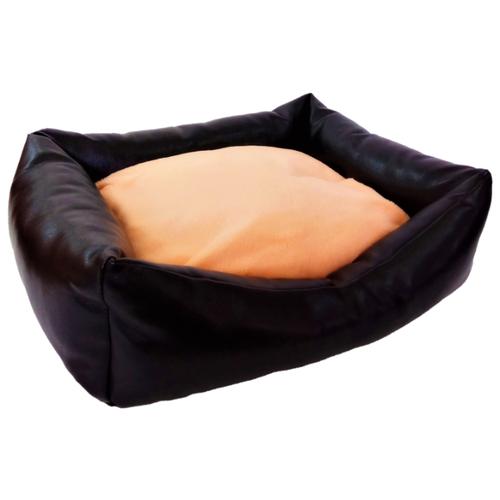 Лежак для кошек, для собак LOORI Кожаная Z1033 50х40х15 см черный