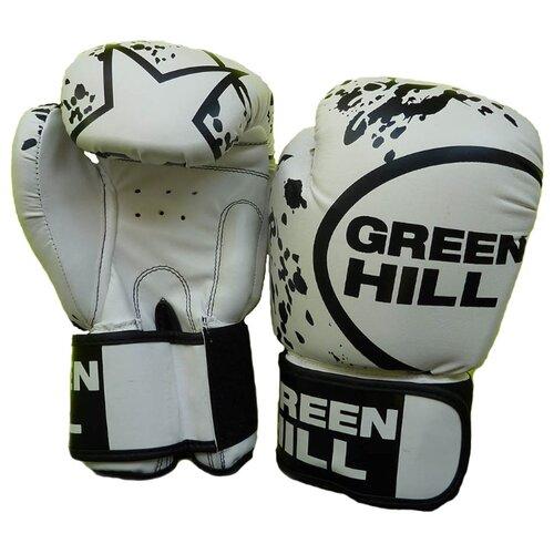 Боксерские перчатки Green hill Star (BGS-2219) белый 14 ozБоксерские<br>