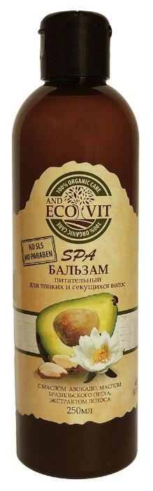ECO&Vit бальзам Питательный с маслом авакадо, маслом бразильского ореха, экстрактом лотоса