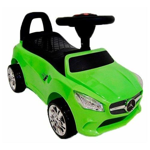 Купить Каталка-толокар RiverToys Mercedes JY-Z01C со звуковыми эффектами зеленый, Каталки и качалки