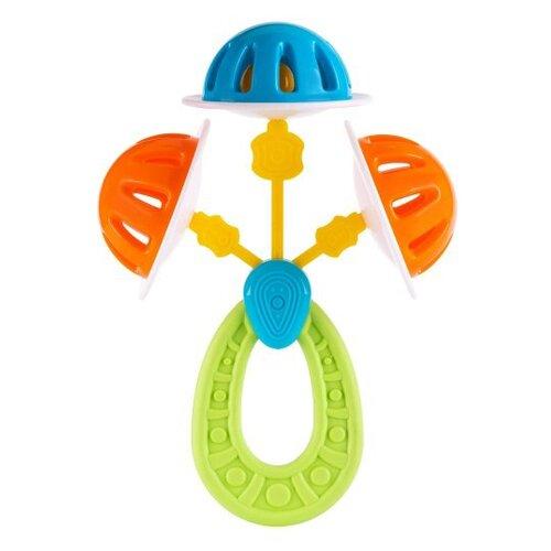 Купить Прорезыватель-погремушка Knopa Нептун зеленый/голубой/оранжевый, Погремушки и прорезыватели