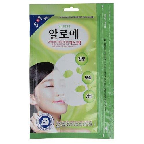 Well-being Health Pharm Маска для лица 5+1 Успокаивающая с алоэ и стволовыми клетками, 20 г, 6 шт. маска для лица health