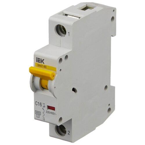 Автоматический выключатель IEK ВА 47-60 1P (C) 6kA 16 А автомат iek 3п c 40а ва 47 100