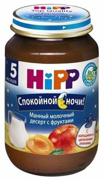 Каша HiPP молочная манная с фруктами (с 5 месяцев) 190 г