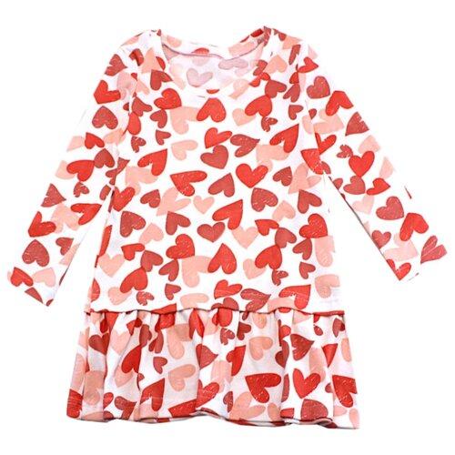 Платье TREND размер 92-52(26), 4031 белый/сердечки