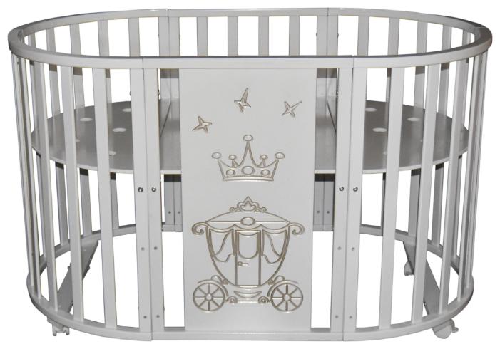 Кроватка Кедр Sofia 1 Crown 6в1 (колесо)