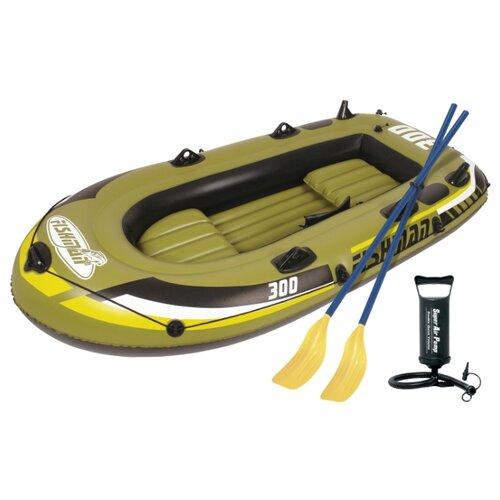 цена на Надувная лодка Jilong Fishman 300set JL007208-1N зелено-черный