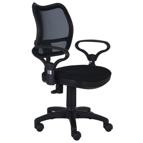 Компьютерное кресло Бюрократ CH-799AXSN, обивка: текстиль, цвет: черный 26-28 кресло бюрократ ch 799axsn black спинка сетка черный сиденье черный 26 28