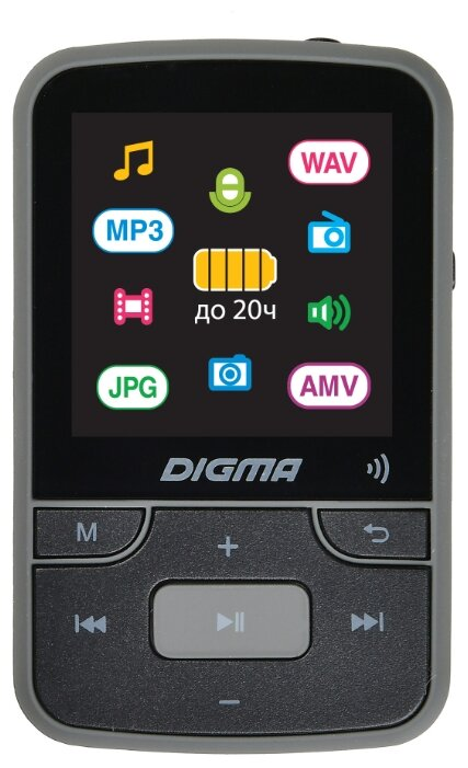 Digma Плеер Hi-Fi Flash Z4 BT 16Gb черный 1.5