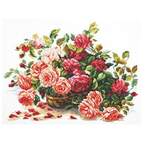 цена на Чудесная Игла Набор для вышивания Королевские розы 38 x 28 см (40-38)