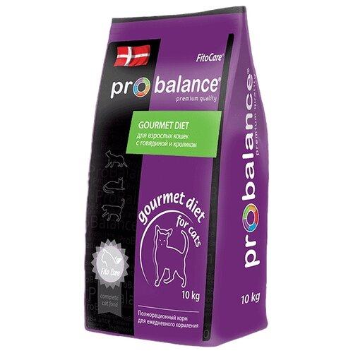 Корм для кошек ProBalance Gourmet Diet с Говядиной и кроликом (10 кг)Корма для кошек<br>