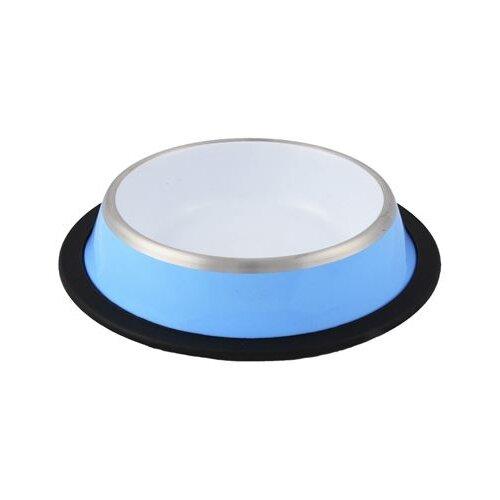 Миска Ankur с резиновым основанием 900 мл голубой/белый- преимущества, отзывы, как заказать товар за 429 руб. Бренд Ankur