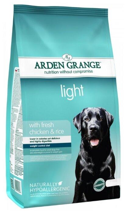 Корм для собак Arden Grange Adult Light курица и рис сухой корм для взрослых собак, диетический