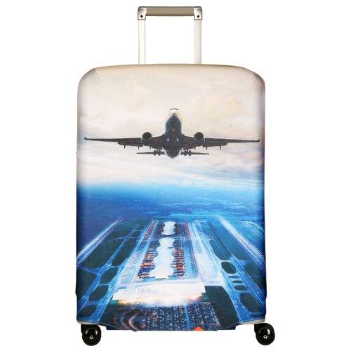 Чехол для чемодана ROUTEMARK Plane SP500 L/XL, синий чехол для чемодана routemark inmotion размер m l 65 74 см