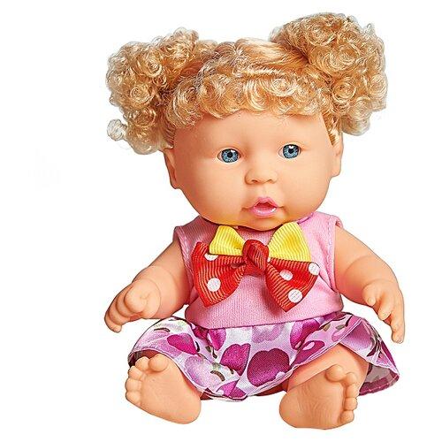 Кукла Lovely baby в розовом платье с золотистыми локонами, 18.5 см, XM632/2Куклы и пупсы<br>