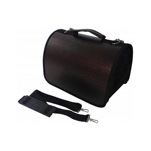 Переноска-сумка для кошек и собак LOORI Z2659 40х25х27 см коричневыйТранспортировка, переноски<br>