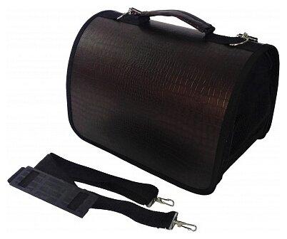 Переноска-сумка для кошек и собак LOORI Z2659 40х25х27 см коричневый