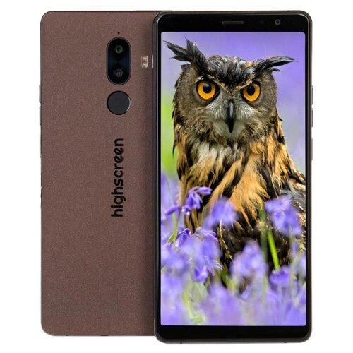 Смартфон Highscreen Power Five Max 2 3/32GB коричневый highscreen power five max 2 4 64gb черный