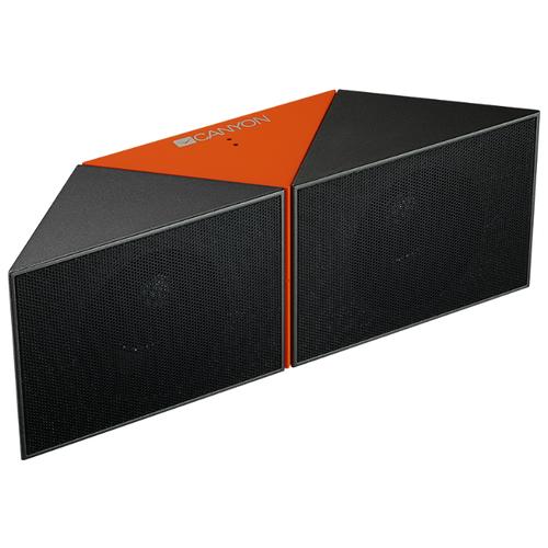 Портативная акустика Canyon CNS-CBTSP4 черный / оранжевый портативная акустика canyon cne cbtsp6 black