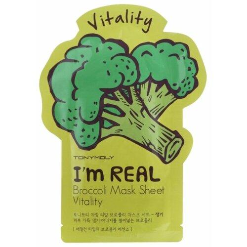 Фото - TONY MOLY тканевая маска I'm Real Broccoli тонизирующая, 21 мл tony moly тканевая маска pureness 100 pearl 21 мл
