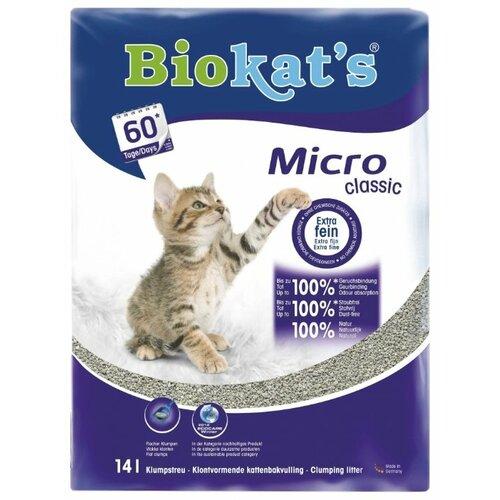 Комкующийся наполнитель Biokat's Micro Classic 14 л