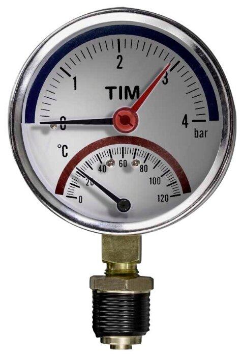 Аналоговый манометр Tim Y-80-4bar