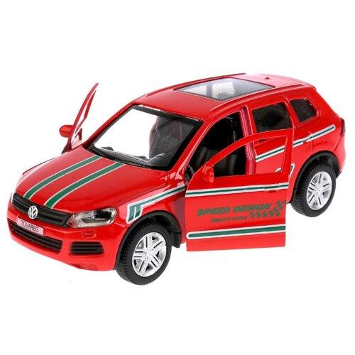 Купить Легковой автомобиль ТЕХНОПАРК Volkswagen Touareg (TOUAREG-S) 1:36 12 см красный, Машинки и техника