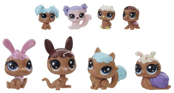 Фигурки Littlest Pet Shop Зефирные питомцы 8 шоколадных петов E1066