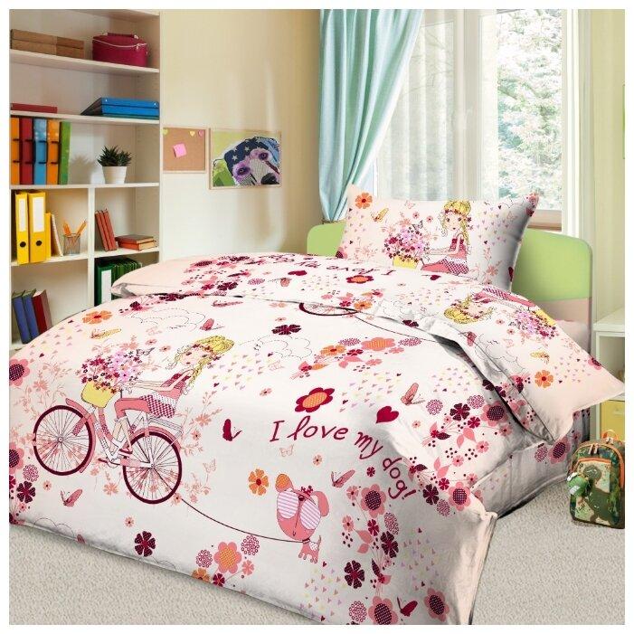 Купить Постельное белье 1.5-спальное Letto Элли бязь, 50 х 70 см розовый по низкой цене с доставкой из Яндекс.Маркета (бывший Беру)