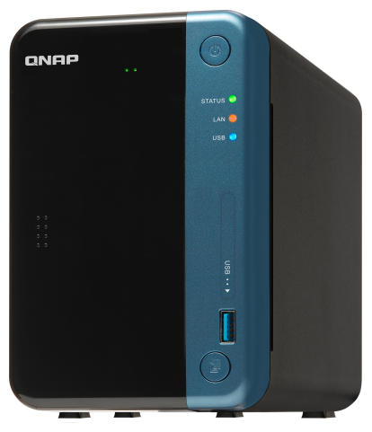 Сетевой RAID-накопитель QNAP TS-253Be-2G NAS, 2-tray w/o HDD. 2xHDMI-port. Quadcore Celeron J3455 1.5-2.3 GHz, 2GB DDR3L (1 x 2GB) up to 8GB, 2xGigabi