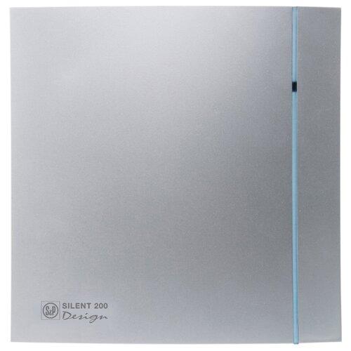 Вытяжной вентилятор Soler & Palau SILENT-200 CZ DESIGN 3C, silver 16 Вт вытяжной вентилятор soler