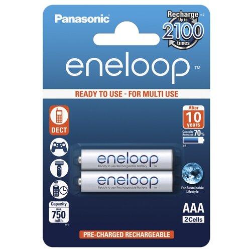 Аккумулятор Ni-Mh 750 мА·ч Panasonic eneloop AAA 2 шт блистер аккумулятор для камкордера panasonic cga d54s 1h