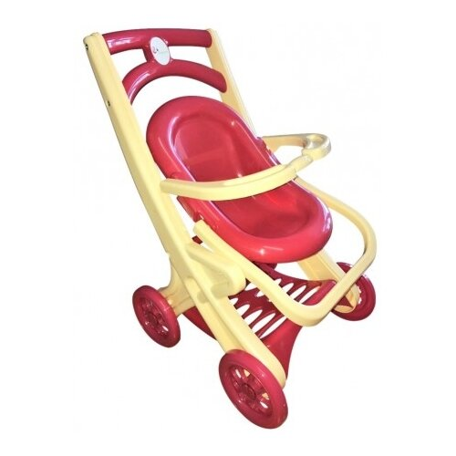 Купить Прогулочная коляска Doloni С шезлонгом (0122) фуксия/бежевый, Коляски для кукол