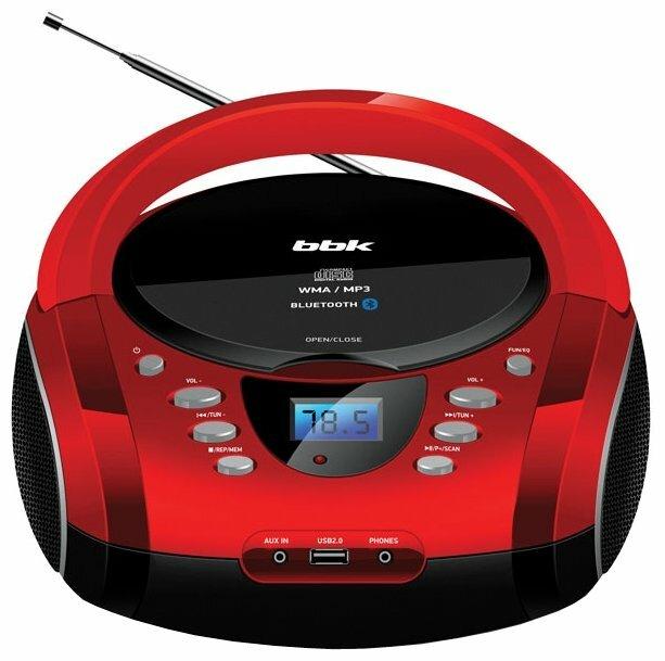 Аудиомагнитола BBK BX165BT, зеленый и черный