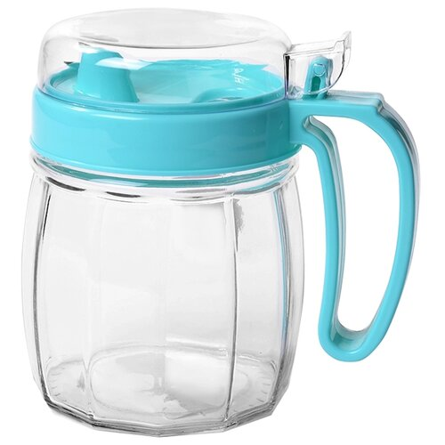 Fissman Бутылочка для масла 720 мл прозрачный/голубой